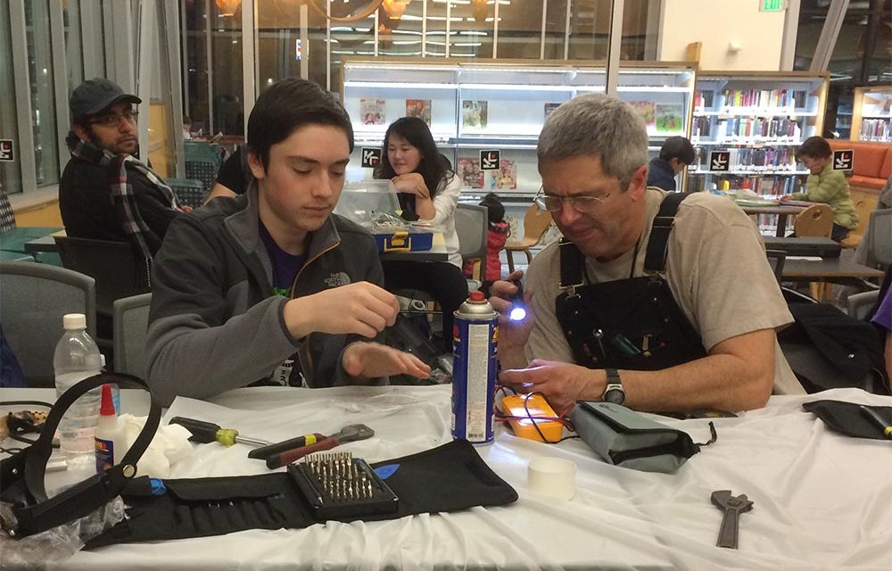 Next FREE Repair Café will be Wed., Sept. 4 at Burien Library
