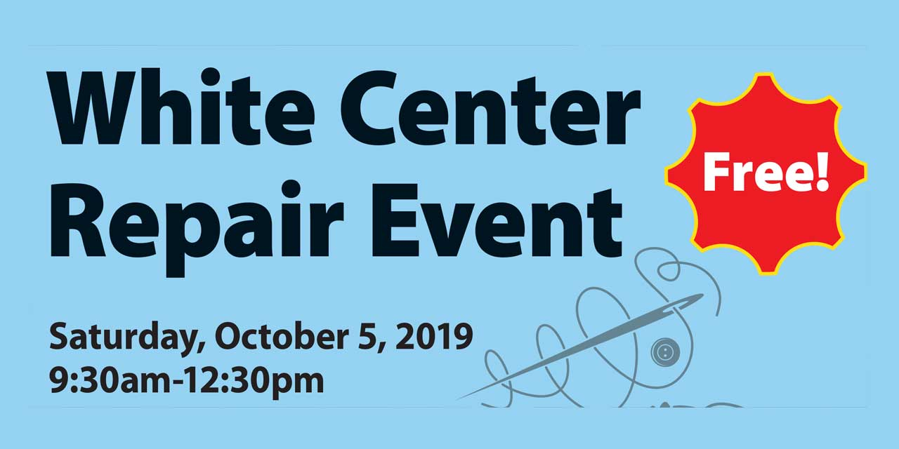 White Center Repair Event will be Sat., Oct. 5 at Steve Cox Memorial Park