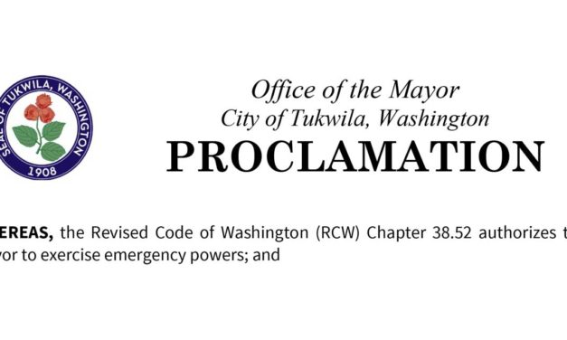 City of Tukwila issues formal declaration of emergency due to coronavirus