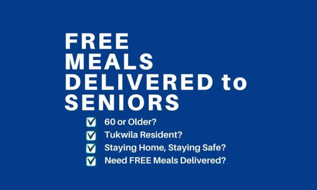 Tukwila Parks & Rec offering FREE deliveries of meals to seniors