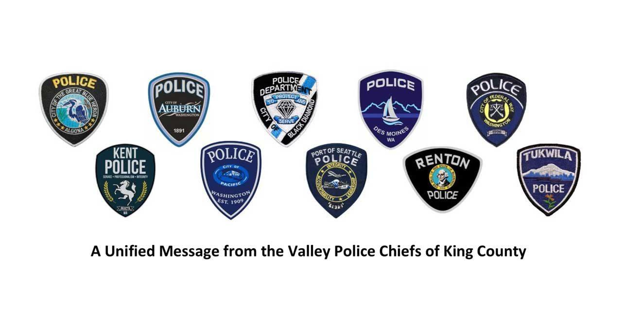 Tukwila Police part of Unified Message from Valley Police Chiefs of King County