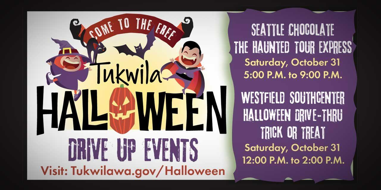 City of Tukwila, Seattle Chocolates & Westfield Southcenter holding Drive-Thru Halloween Events