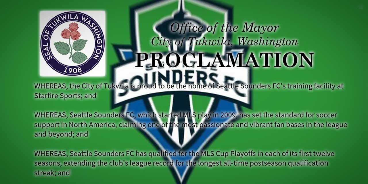 Saturday is 'Seattle Sounders FC Spirit Day' – here's video of the Mayor's proclamation