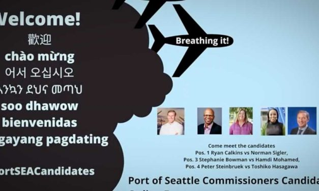 VIDEO: Port of Seattle Commission Candidates answer questions about airport at forum