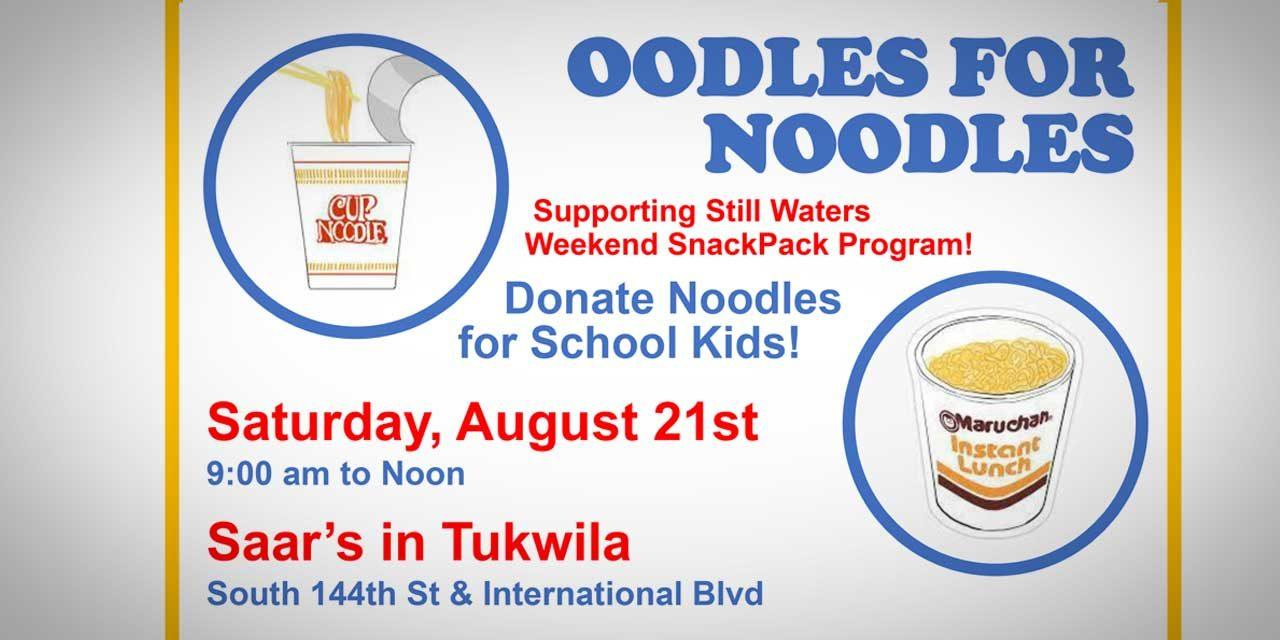 Support Still Waters Weekend SnackPack Program at 'Oodles for Noodles' this Saturday