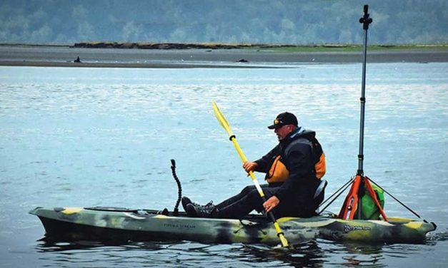 Brian Footen is a man, on a mission, in a kayak…digitally mapping Puget Sound
